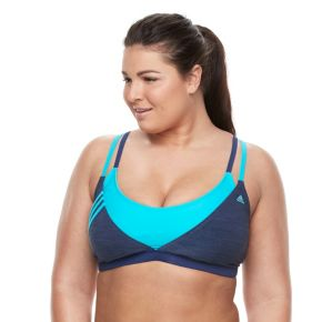 Plus Size adidas Light As Heather Sporty Bikini Top