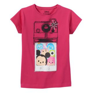 "Disney's Tsum Tsum Girls 4-7 ""#TSELFIE"" Graphic Tee"