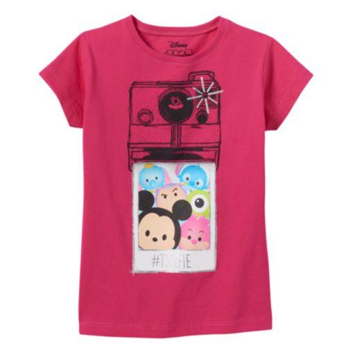 """Disney's Tsum Tsum Girls 4-7 """"#TSELFIE"""" Graphic Tee"""