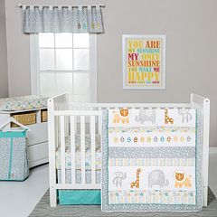 Trend Lab Lullaby Jungle 6 pc Crib Bedding Set