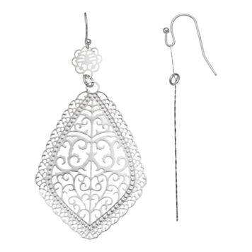 Filigree Nickel Free Drop Earrings