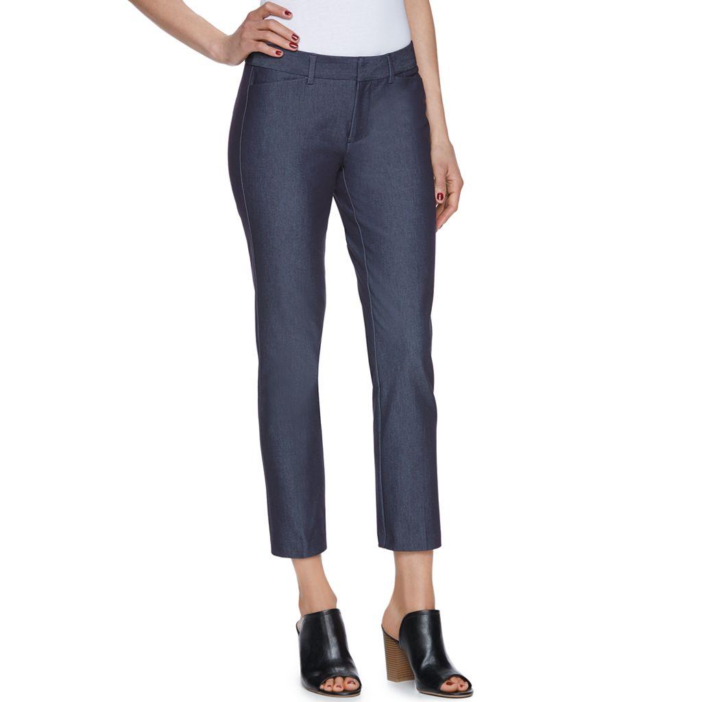 Women's ELLE™ Crop Slim Ankle Pants