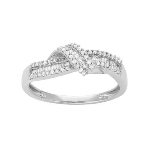 Sterling Silver 1/5 Carat T.W. Diamond Ring