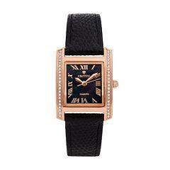 Croton Women's Diamond Leather Swiss Watch