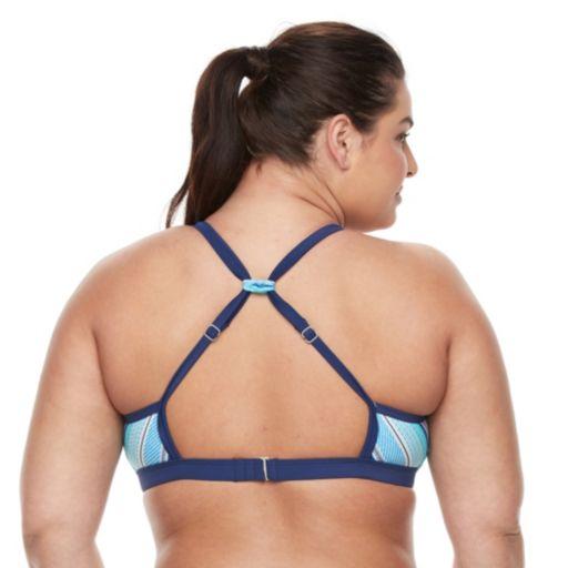 Plus Size adidas Strike a Pose Sporty Bikini Top