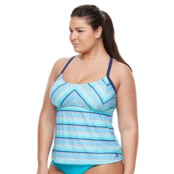 Plus Size adidas Strike A Pose Tankini Top