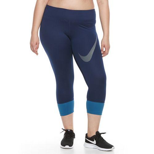 Plus Size Nike Dri-FIT Essential Twist Crop Running Tights