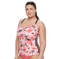 Plus Size adidas Ocean Elements Tankini Top