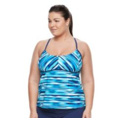 Plus Size adidas Blend a Hand Tankini Top