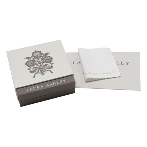 Laura Ashley 10k White Gold 1/3 Carat T.W. Diamond Flower Ring