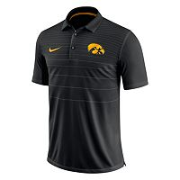 Men's Nike Iowa Hawkeyes Striped Sideline Polo