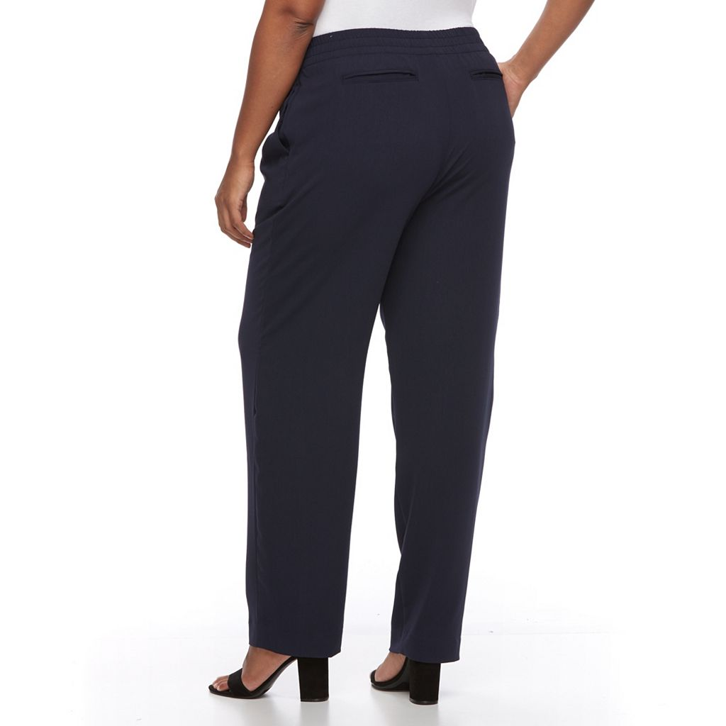 Plus Size Croft & Barrow® Tapered Crepe Pants