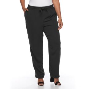 Plus Size Croft & Barrow® Tapered Crepe Pants