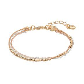 LC Lauren Conrad Tri Tone Multi Strand Bracelet