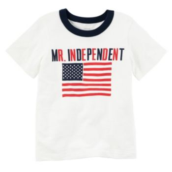 "Boys 4-8 Carter's ""Mr. Independent"" American Flag Tee"