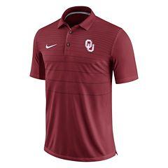 Men's Nike Oklahoma Sooners Striped Sideline Polo