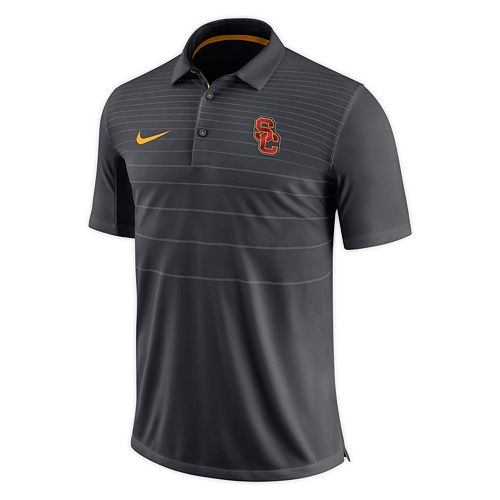 Men's Nike USC Trojans Striped Sideline Polo