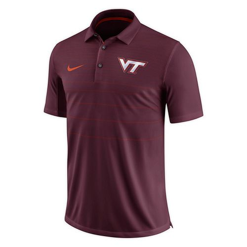 Men's Nike Virginia Tech Hokies Striped Sideline Polo