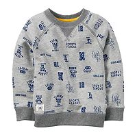 Baby Boy Carter's Gray Sports Fan Printed Pullover Top