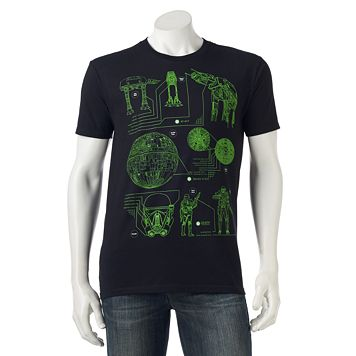 Men's Star Wars Schematic Tee