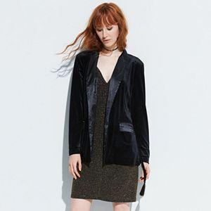 k/lab Belted Velvet Blazer