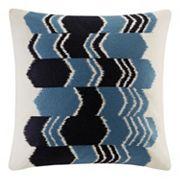 INK+IVY Zamir Arrow Ikat Embroidered Throw Pillow