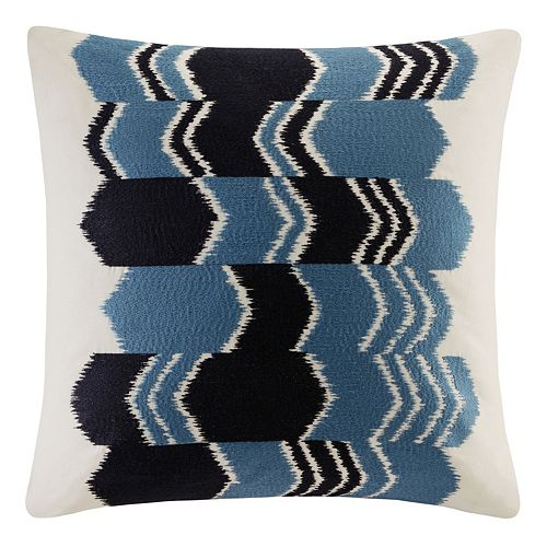 INK+IVY Zamir Arrow Ikat Embroidered Throw Pillow
