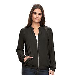 Womens Black Bomber Coats & Jackets - Outerwear, Clothing   Kohl's