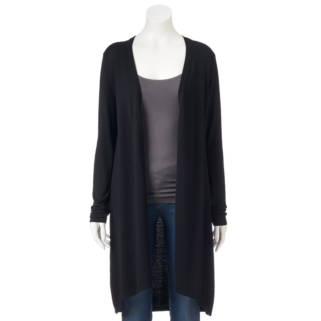Women's Ronni Nicole Long Black Cardigan