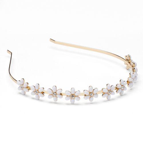 LC Lauren Conrad White Flower Headband