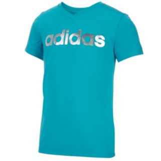 "Girls 7-16 adidas Foil ""adidas"" Graphic Tee"