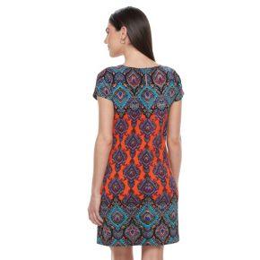 Petite Suite 7 Scroll Textured Shift Dress