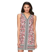 Petite Suite 7 Scroll Floral Shift Dress