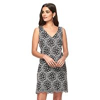 Women's Ronni Nicole Floral Lace Shift Dress