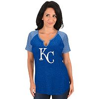 Women's Majestic Kansas City Royals Burnout Tee