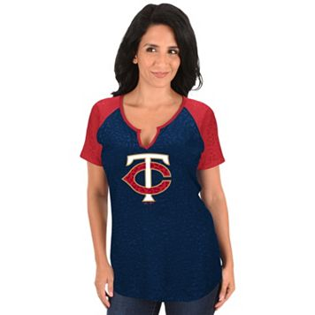Women's Majestic Minnesota Twins Burnout Tee