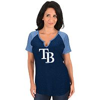 Women's Majestic Tampa Bay Rays Burnout Tee