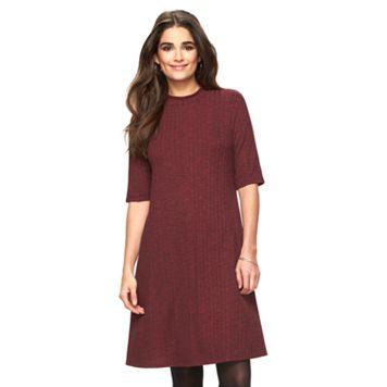 Women's Ronni Nicole Burgundy Mockneck Shift Dress