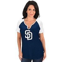 Women's Majestic San Diego Padres Burnout Tee