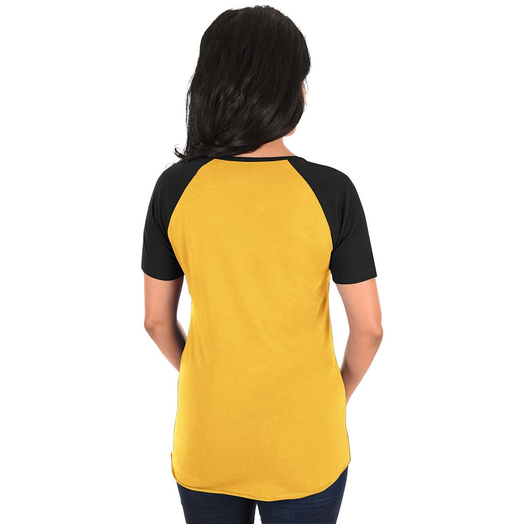 Women's Majestic Pittsburgh Pirates Burnout Tee