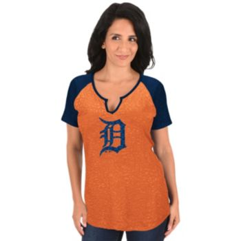 Women's Majestic Detroit Tigers Burnout Tee