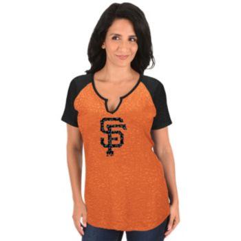 Women's Majestic San Francisco Giants Burnout Tee