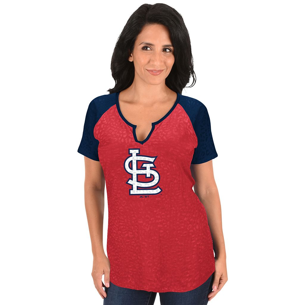 Women's Majestic St. Louis Cardinals Burnout Tee
