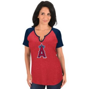 Women's Majestic Los Angeles Angels of Anaheim Burnout Tee