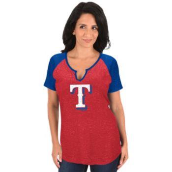 Women's Majestic Texas Rangers Burnout Tee