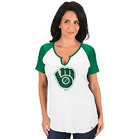 Women's Majestic Milwaukee Brewers Celtic Burnout Tee