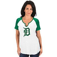 Women's Majestic Detroit Tigers Celtic Burnout Tee