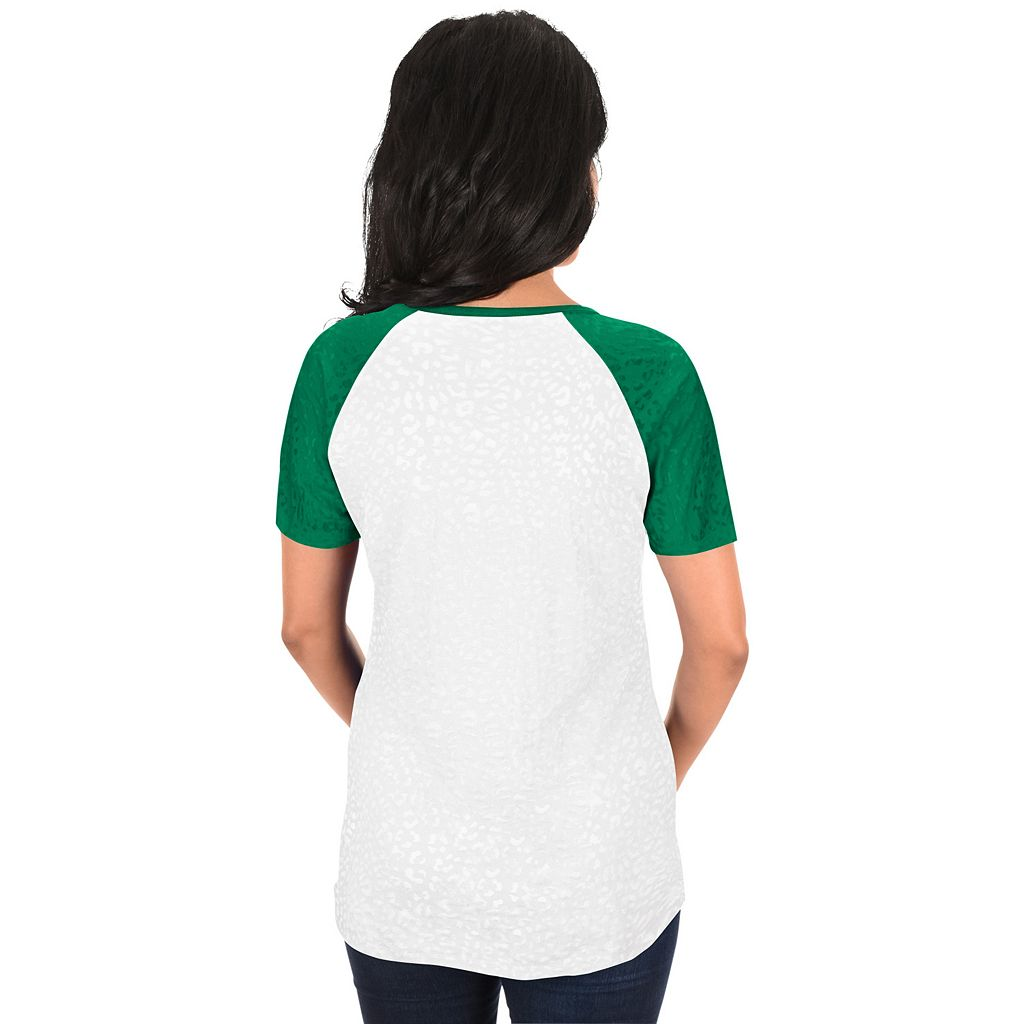 Women's Majestic Boston Red Sox Celtic Burnout Tee