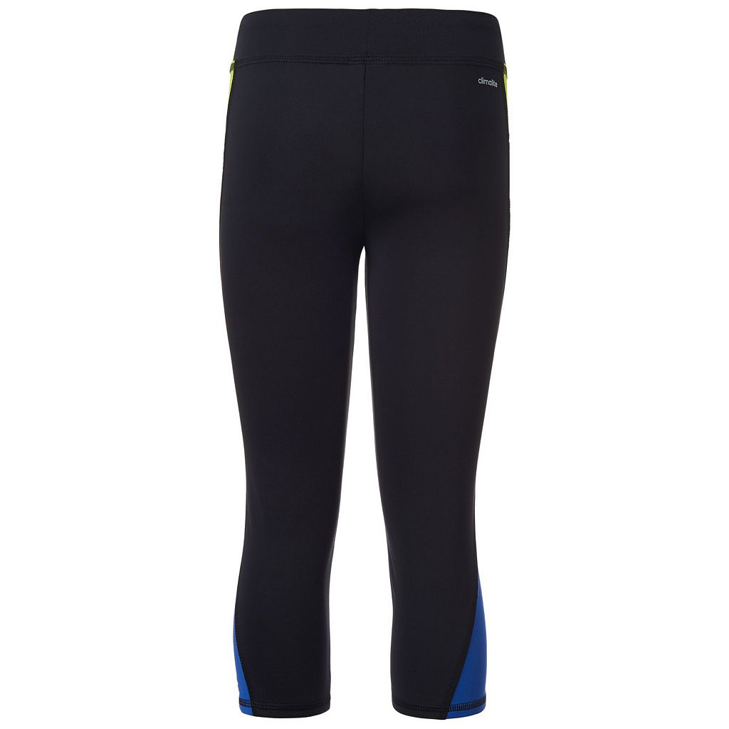 Girls 7-16 adidas climalite Colorblocked Capri Leggings