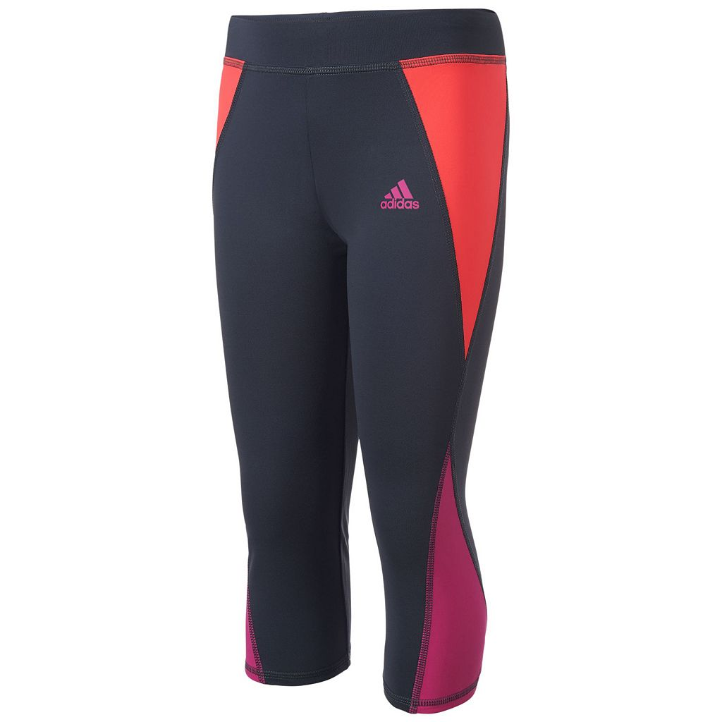 Girls 7-16 adidas climalite Colorblocked Capri Leggings
